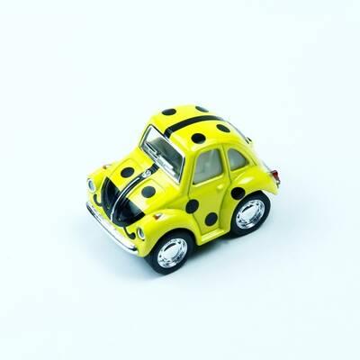 Kinsmart Çek bırak Araba Little Beetle 1:24 (Benekli,Abc Desenli)