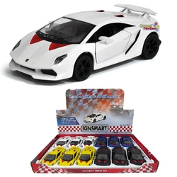 Kinsmart - Kinsmart Lamborghini Sesto Elemento 1:38 Metal Çek Bırak Araba