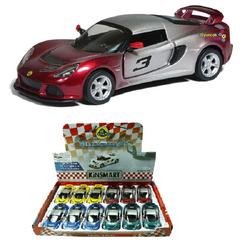 Kinsmart - Kinsmart Metal Çek Bırak Araba 2012 Lotus Exige S (Çift Renkli) KT5361DG