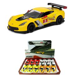 Kinsmart - Kinsmart Metal Çek Bırak Araba 2016 Corvette C7.R Race Car 1:36