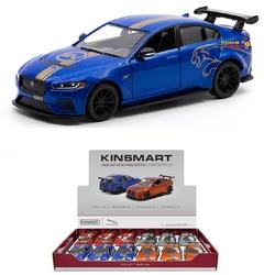 Kinsmart - Kinsmart Metal Çekbırak Araba Jaguar Xe Sv Project 8 (Desenli)