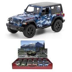 Kinsmart - Kinsmart Oyuncak Metal Çekbırak 2018 Jeep Wrangler Camo (Hard Top)