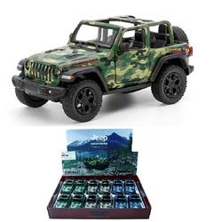 Kinsmart - Kinsmart Oyuncak Metal Çekbırak 2018 Jeep Wrangler Camo (Open Top)