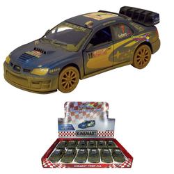 Kinsmart - Kinsmart Subaru Impreza VRC 2007 1:36 Metal Çek Bırak Araba Çamurlu