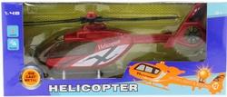 MEGA - Kırmızı Plastik Helikopter Mk1009S