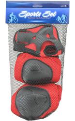 MEGA - Kırmızı-Siyah Dizlik Dirseklik Q830-9