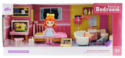 Kızıl Saçlı Maylla Mini Yatak Odası ve Banyo Oyun Seti