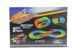 MEGA - Led Işıklı Araç ve Kurulabilir Yol Seti
