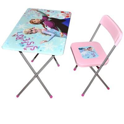 Lisanslı Frozen Ders Çalışma Masası ve Sandalyesi