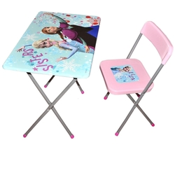 Lisanslı Frozen Ders Çalışma Masası ve Sandalyesi - Thumbnail