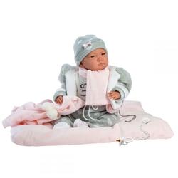 LORENS - Llorens Gri Pijamalı Yeni Doğan Bebek 42 cm