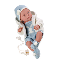 LLORENS - Llorens Peluş Hırkalı Et Bebek Tino 43 cm