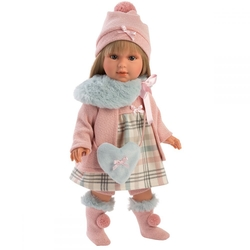 LLORENS - Llorens Pötikareli Elbiseli Kış Bebeği 42 cm