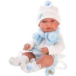 LORENS - Lorens Mavi Anakucaklı Et Bebek 40 cm