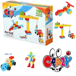 Matrax OyuncakFabrikasi - Matrax Crazy Eğitici Blok Oyunu 100 Parça