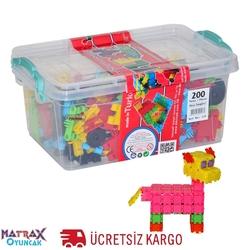 Matrax OyuncakFabrikasi - Matrax Flexy Tangles 200 Parça Plastik Kutuda