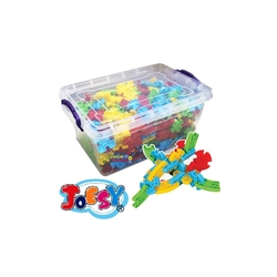 Matrax OyuncakFabrikasi - Matrax Joesy Eğitici Blok Oyunu 400 Parça Plastik Kilitli Kutuda