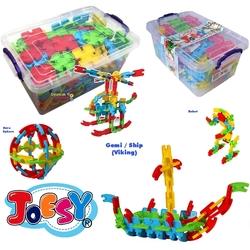 Matrax OyuncakFabrikasi - Matrax Mega Joesy Eğitici Blok Oyunu 200 Parça Plastik Kilitli Kutuda