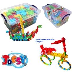Matrax OyuncakFabrikasi - Matrax Mega Joesy Eğitici Blok Oyunu 380 Parça Plastik Kilitli Kutuda