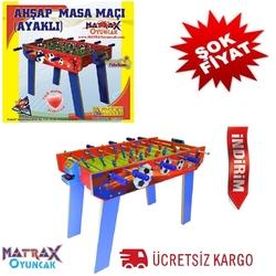 Matrax OyuncakFabrikasi - Matrax Oyuncak Langırt Ahşap Masa Maçı Ayaklı (4Kollu)