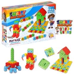 Matrax OyuncakFabrikasi - Matrax Smarty Oyun Akıllı Sayılar Eğitici Blok Oyunu 100 Parça