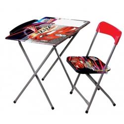 Furkan Toys - Max Speed Çocuk Ders Çalışma Masası Sandalye Seti Yazı Tahtalı