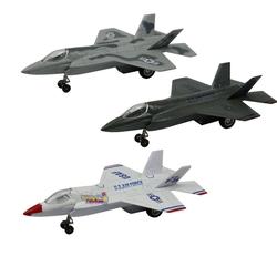 Vardem Oyuncak - Metal Çek Bırak Sesli Işıklı F-35 Savaş Uçağı 18 Cm