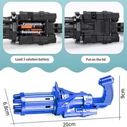 Miajima Bubble Gun Pilli Otomatik Oyuncak Baloncuk Tabancası - Thumbnail