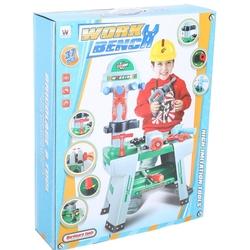Miajima - Miajima Büyük Oyuncak Tamir Seti Tezgahı Alet Seti Work Bench 37 Parça