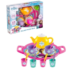 Dede toys - Miajima Disney Frozen Oyuncak Tepsili Çay Seti 17 Parça