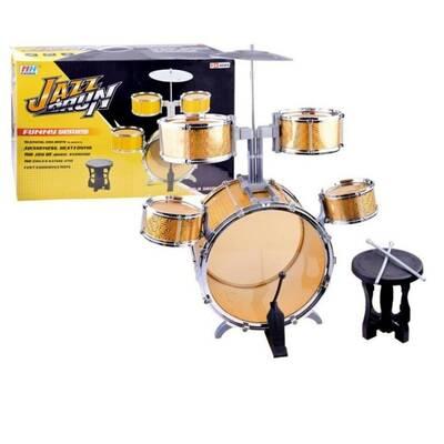 Miajima Oyuncak Drum Jazz Set Tabureli Büyük Bateri Seti