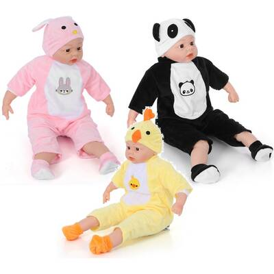 Miajima Oyuncak Gerçek Yüzlü Kel Et Bebek Pijamalı 60 cm