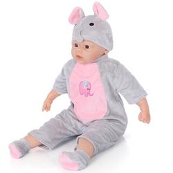 Miajima Oyuncak Gerçek Yüzlü Kel Et Bebek Pijamalı 60 cm - Thumbnail