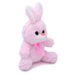 Halley Oyuncak - Miajima Oyuncak Pembe Peluş Tavşan Kurdelalı 23 Cm