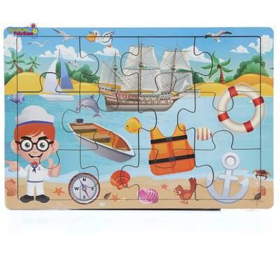 Miajima Yaz Mevsimi Gemi Kaptanı Ahşap Eğitici Yapboz Puzzle 12 Parça