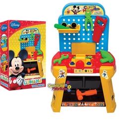 Dede toys - Mickey Mouse Oyuncak Tamir Seti Tezgahlı 33 Parça