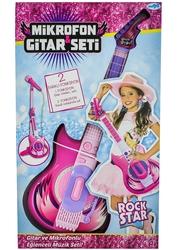 MEGA - Mikrofonlu Pembe Gitar Seti