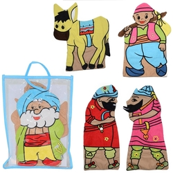 Anadolu Toys - Milli Kahramanlar Kukla 5 Li Set Kumaş