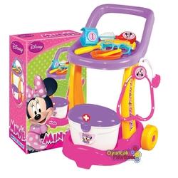 Dede toys - Minnie Mouse Doktor Servis Arabası 10 Parça Setli