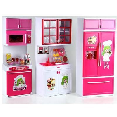 Modern Oyuncak Mutfak Seti 3 Lü Sesli Işıklı Minti Minti