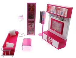 MEGA - Modern Yaşam Oyuncak Oturma Odası Oyun Seti Sesli Ve Işıklı