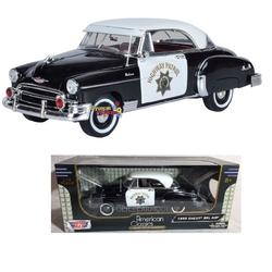Motor Max - Motor Max 1:18 Model Araba 1950 Chevrolet Bel Air Police Car