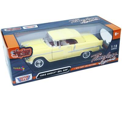 Motormax Model Araba 1:18 1955 Chevy Bel Air