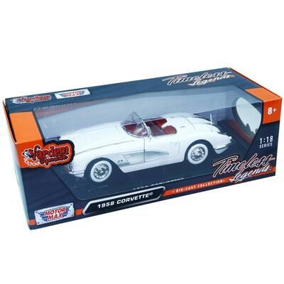 Motormax Model Araba 1:18 1958 Chevrolet Corvette