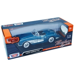 Motormax Model Araba 1:18 1958 Chevrolet Corvette - Thumbnail