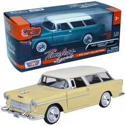 Motor Max - Motormax Model Araba 1:24 1955 Chevy Bel Air Nomad