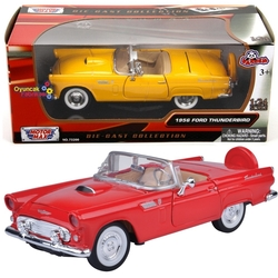 Motor Max - Motormax Model Araba 1:24 1956 Ford Thunderbird (Convertible)