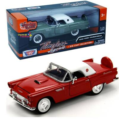Motormax Model Araba 1:24 1956 Ford Thunderbird (Hardtop)