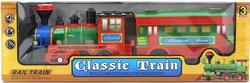 MEGA - Müikli Ve Işıklı Klasik Kırmızı Tren