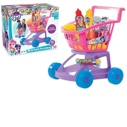 Dede toys - My Little Pony Çocuk Oyuncak Market Arabası 16 Parça